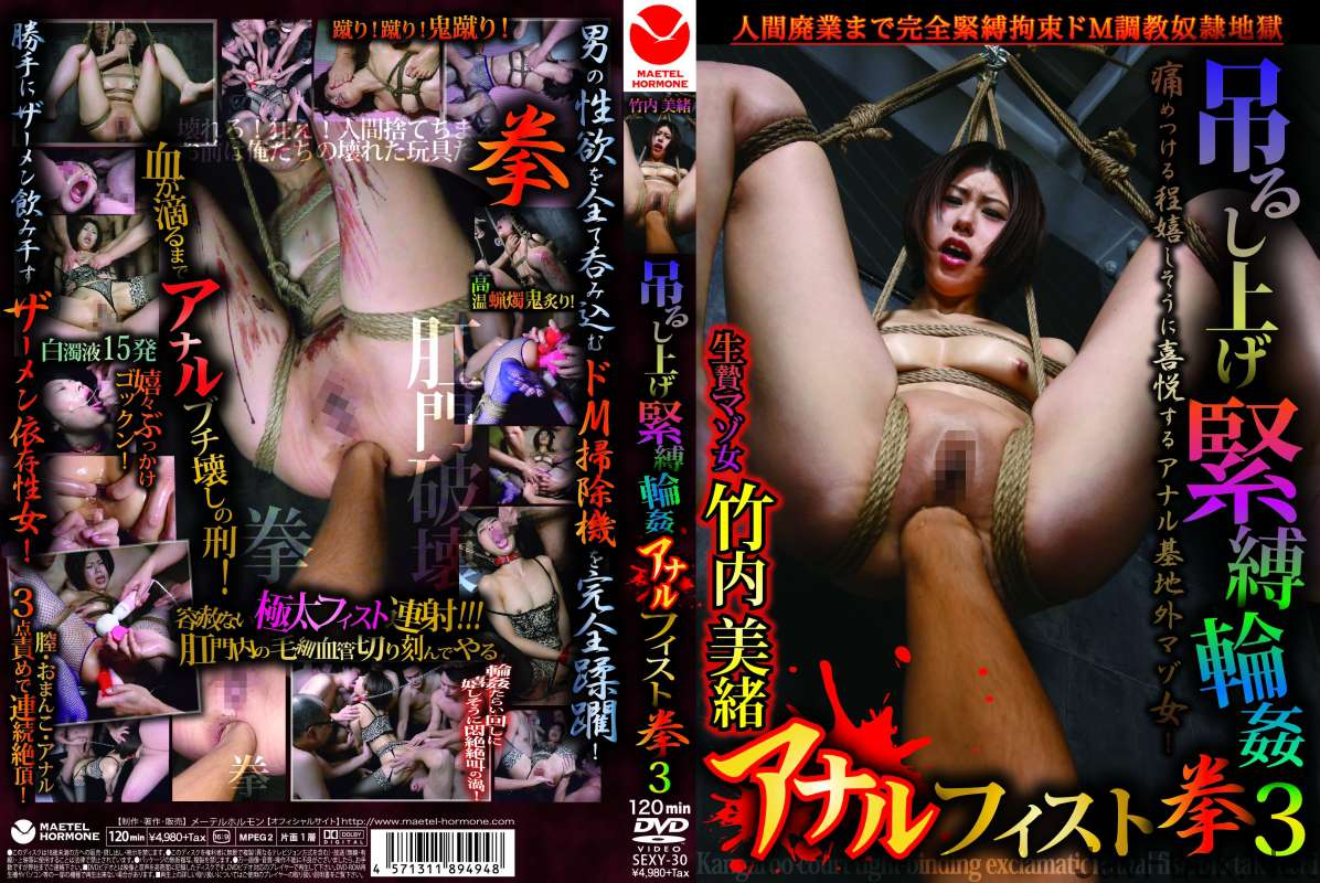 [SEXY-30] 吊るし上げ緊縛輪姦アナルフィスト拳 3 竹内美緒 メーテルホルモン 2014/04/25 Rape