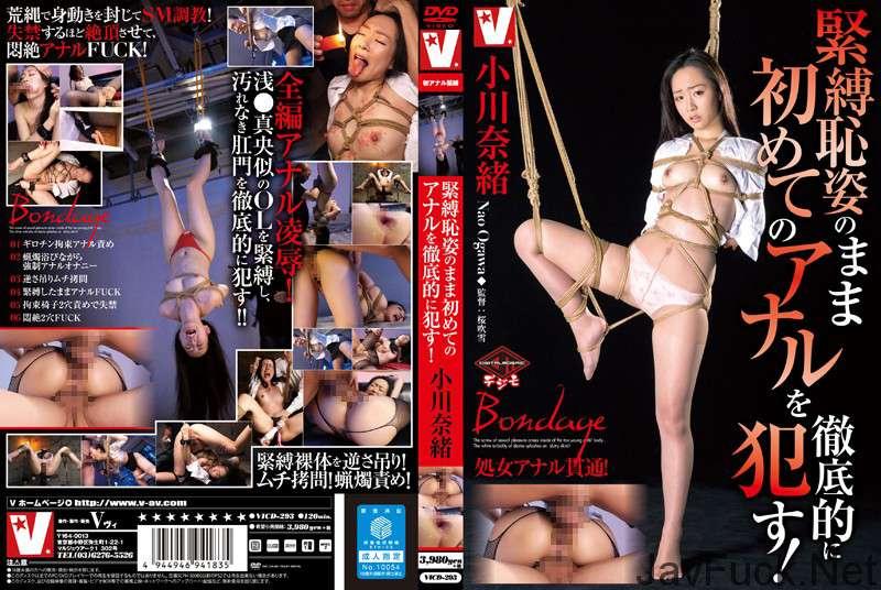 [VICD-293] 緊縛恥姿のまま初めてのアナルを徹底的に犯す 小川奈緒 3P 輪姦・凌辱 Tied Rape SM 拘束