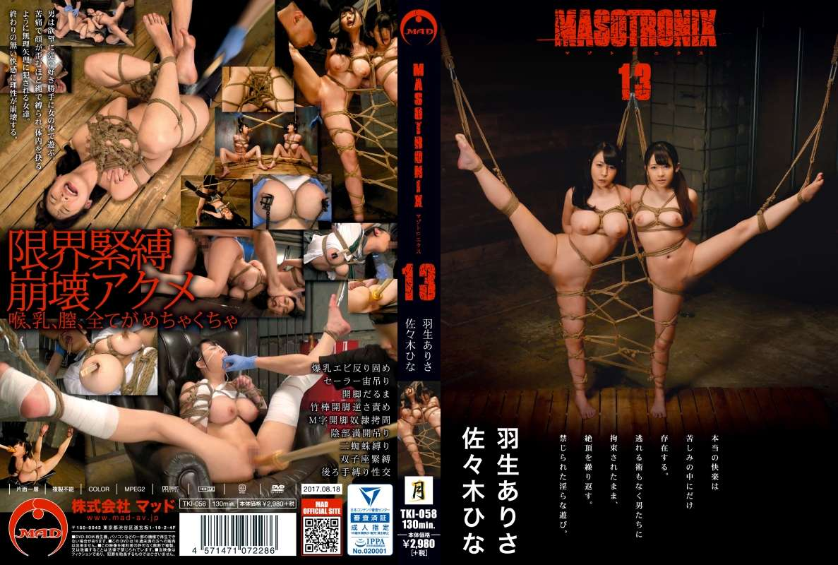 [TKI-058] MASOTRONIX 13 調教 Rape 130分 Actress Squirting
