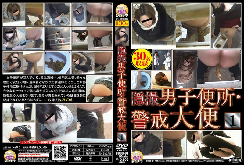 [DDDD-01] 隠撮 男子便所・警戒大便 1 盗撮 2013/02/10 シャリラ