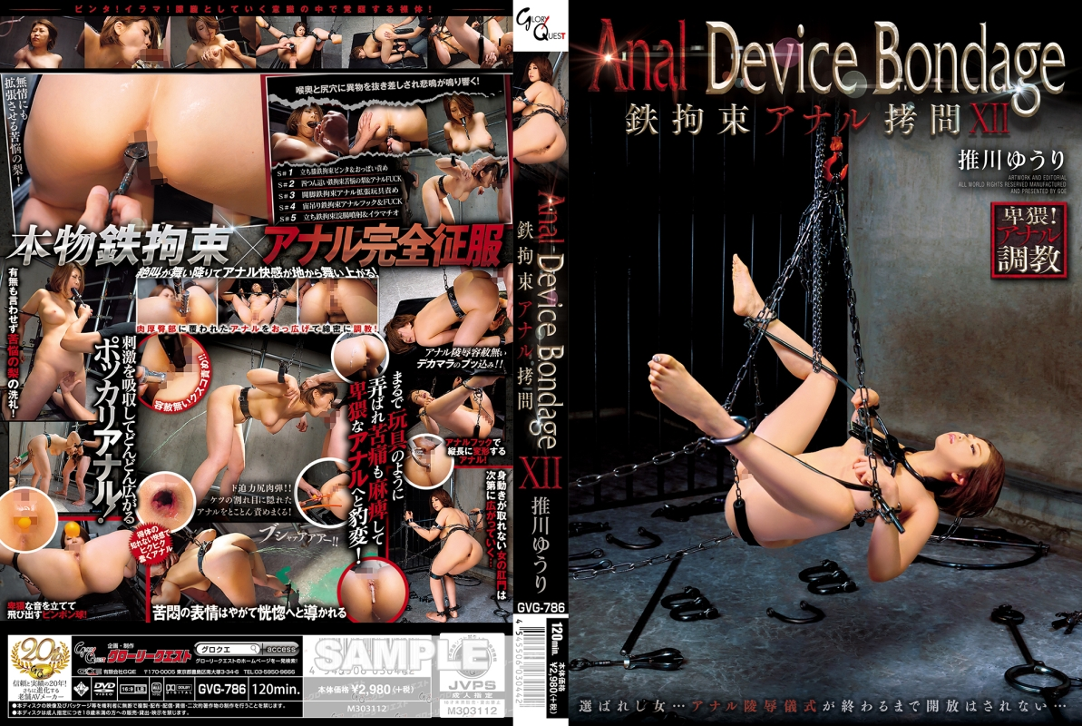 [GVG-786] Anal Device Bondage XII 鉄拘束アナル拷問 120分 Enema